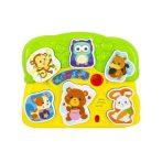 Fények és hangok állatos puzzle bébijáték
