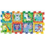 Állatos szivacs puzzle 8db-os