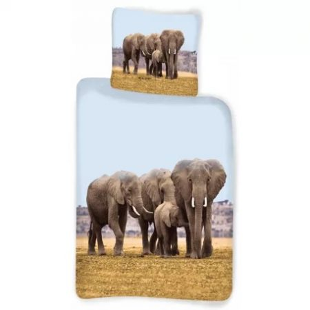Elefánt ágyneműhuzat 135×200cm, 80×80 cm