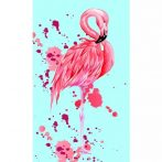 Flamingó Kéztörlő arctörlő, törölköző 30*50cm