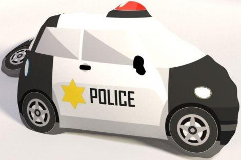 Rendőr formapárna, díszpárna