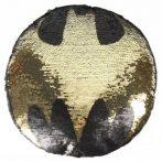 Batman átfordítható flitteres formapárna 30 cm