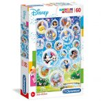 Disney mesehősök Supercolor puzzle 60db-os