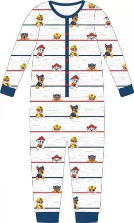 Mancs Őrjárat gyerek hosszú pizsama, overál 98-104cm