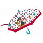 Mancs Őrjárat Gyerek átlátszó félautomata esernyő Ø68 cm