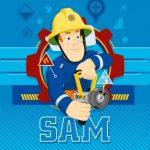 Sam a tűzoltó Mágikus Kéztörlő arctörlő, törölköző 30*30cm