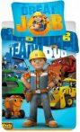Ágyneműhuzat Bob the Builder, Bob, a mester 140×200cm, 70×90 cm