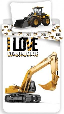 Construction, Építkezés ,traktor ágyneműhuzat 140×200cm, 70×90 cm