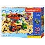 Ház építés 20db-os puzzle