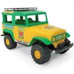 Zöld-sárga terepjáró autó 38 cm
