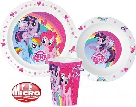 Étkészlet, micro műanyag szett My Little Pony