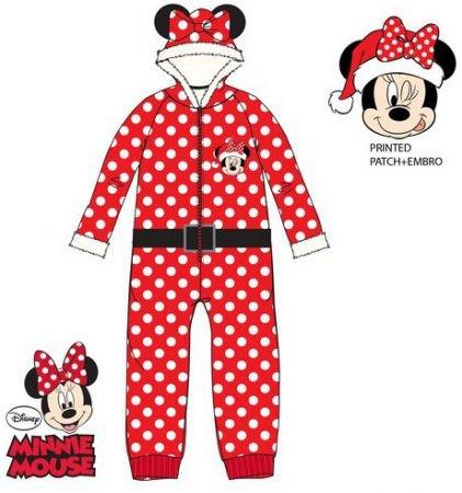 Disney Minnie gyerek hosszú pizsama overál 3-8 év Mikulás