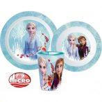 Disney Jégvarázs étkészlet, micro műanyag szett