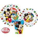 Disney Mickey étkészlet, micro műanyag szett