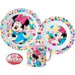 Disney Minnie étkészlet, micro műanyag szett