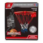 Fém kosárlabda palánk szett labdával, hálóval és kiegészítőkkel