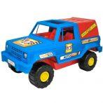 Kék-piros terepjáró autó 38 cm