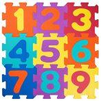Szivacs puzzle számokkal