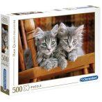 Szürke cicák a széken HQC 500db-os puzzle - Clementoni